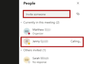 Invite new attendee to the meeting